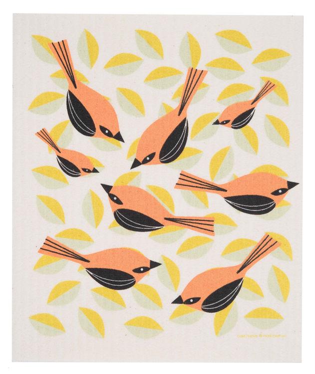 Picture of Swedish Orange Birds Dishcloth