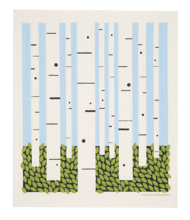 "Picture of Swedish Dishcloth ""Birch Trees"""