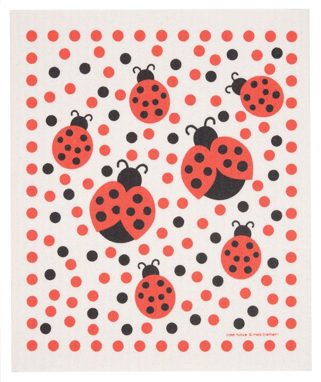 """Picture of Swedish Dishcloth """"Ladybugs"""""""