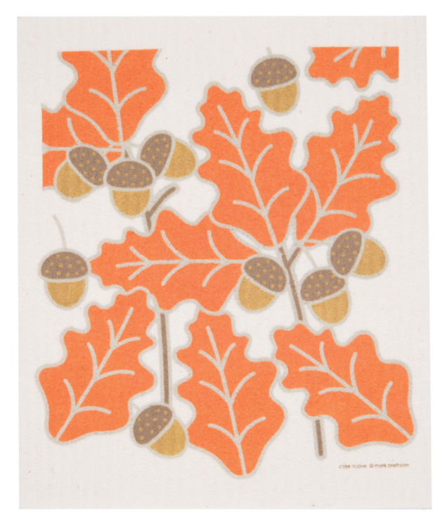 "Picture of Swedish Dishcloth ""Fall Leaves"""