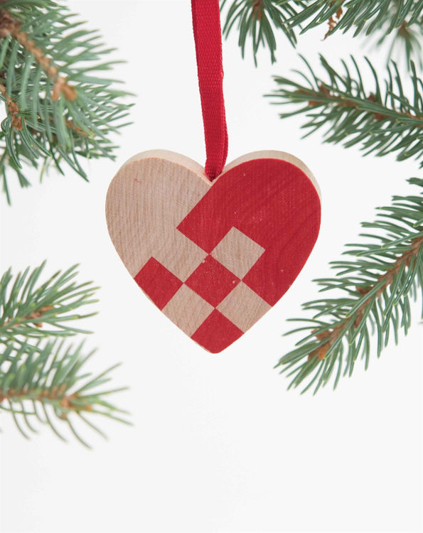 Picture of Wooden Heart Ornament
