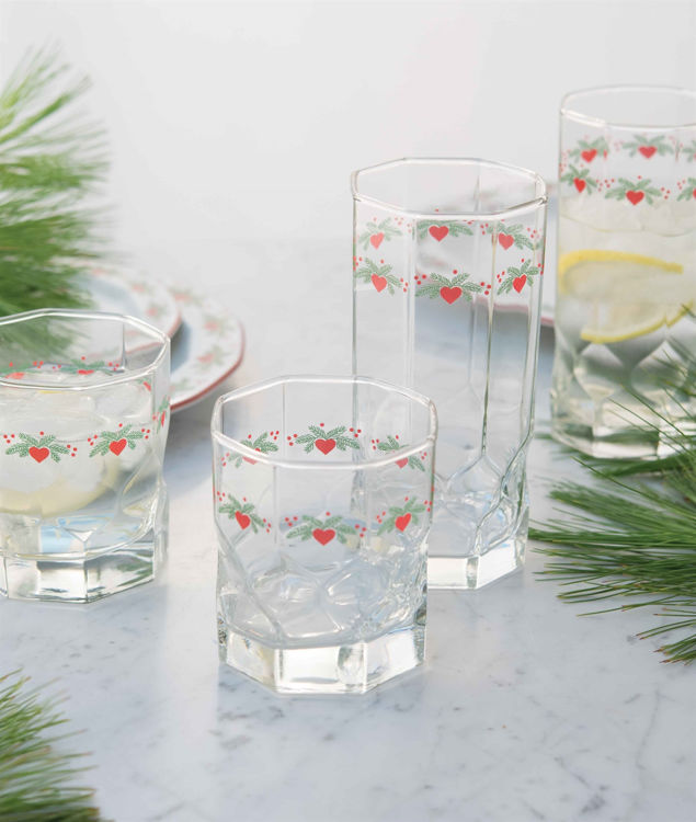 Picture of Hearts and Pines Glassware