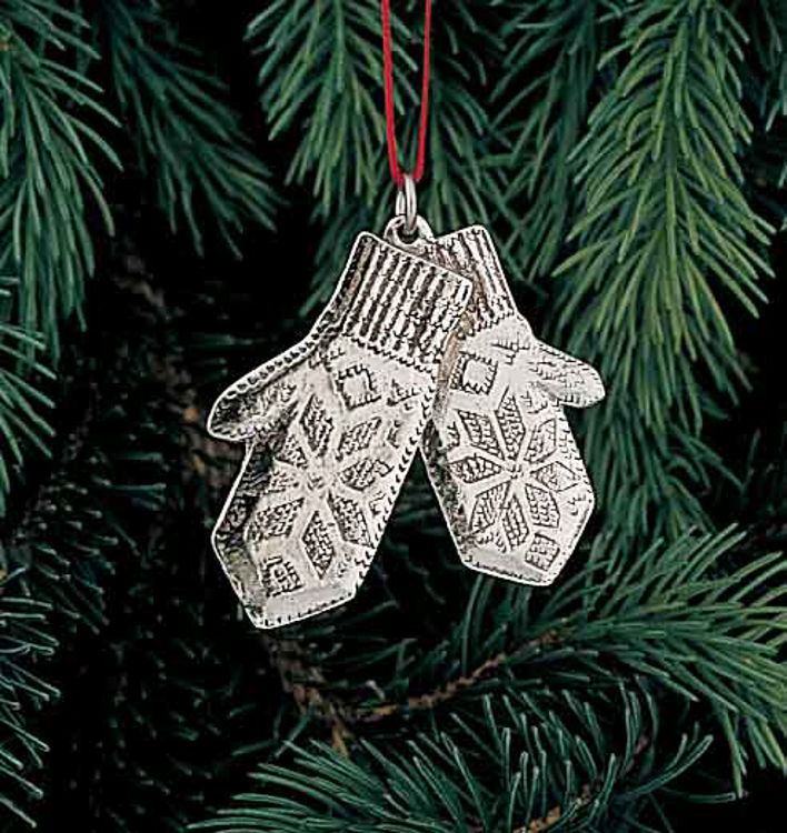 Picture of Norwegian Pewter Mitten Ornament