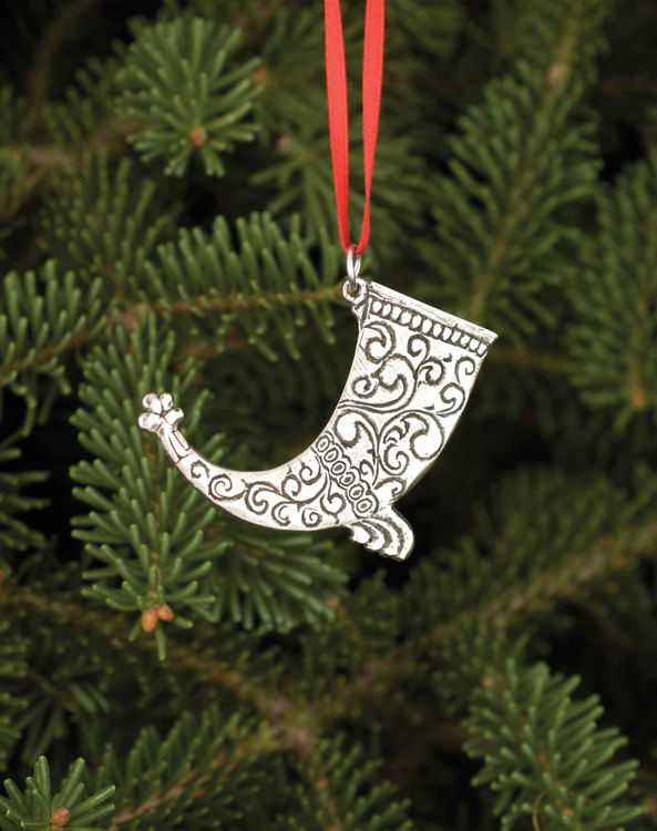 Picture of Norwegian Pewter Drinking Horn Ornament