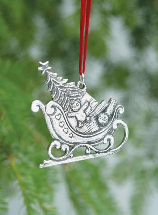 Picture of Norwegian Pewter Sleigh Ornament