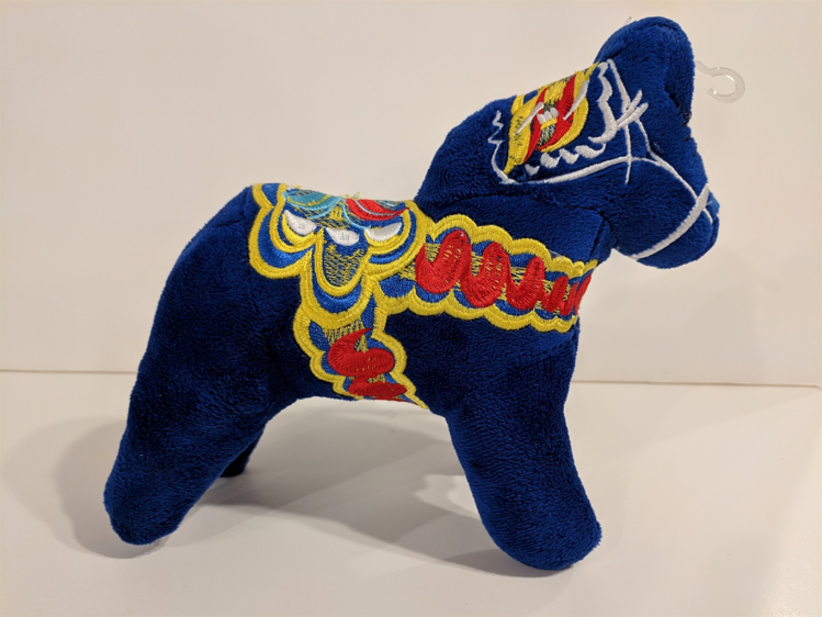 "Picture of Plush Dala Horse""s"