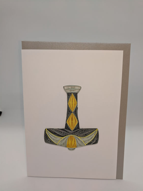Picture of Thor's Hammer Quilling Card