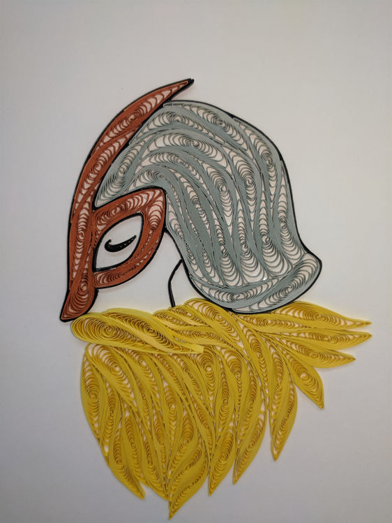 Picture of Viking Head Quilling Card