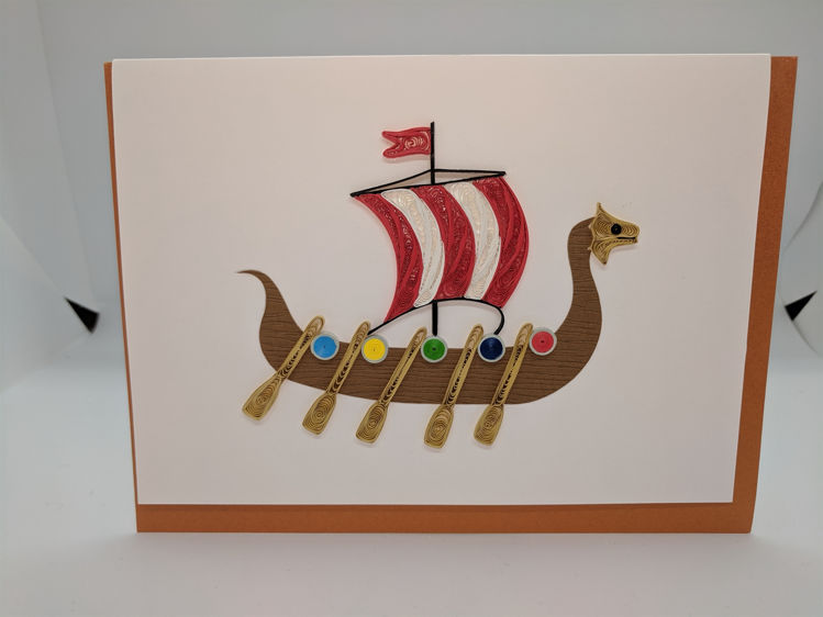 Picture of Viking Ship Quilling Card
