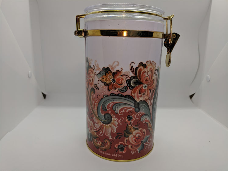 Picture of Rosemaling Canister, Red