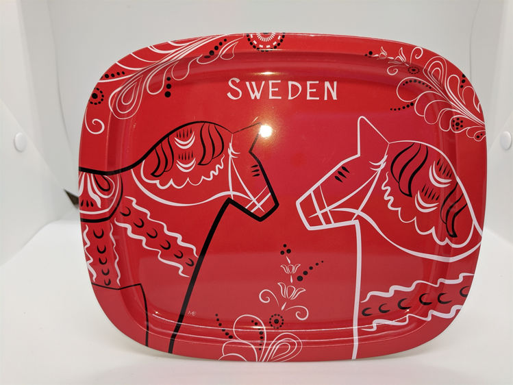 Picture of Metal Dala Horse Tray
