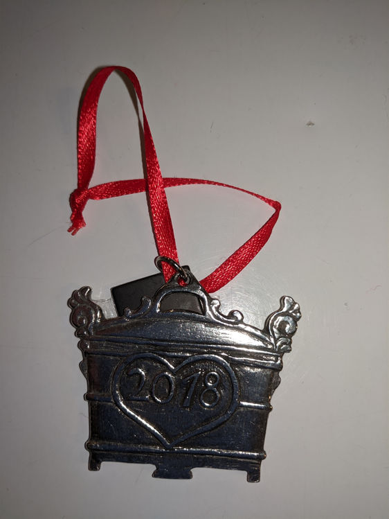 Picture of Norwegian Pewter Ornament, 2018