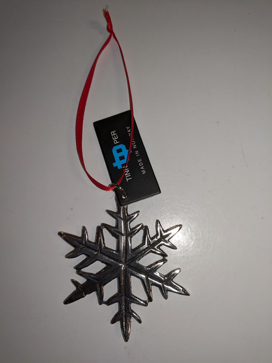 Picture of Norwegian Pewter Ornament, Snowflake