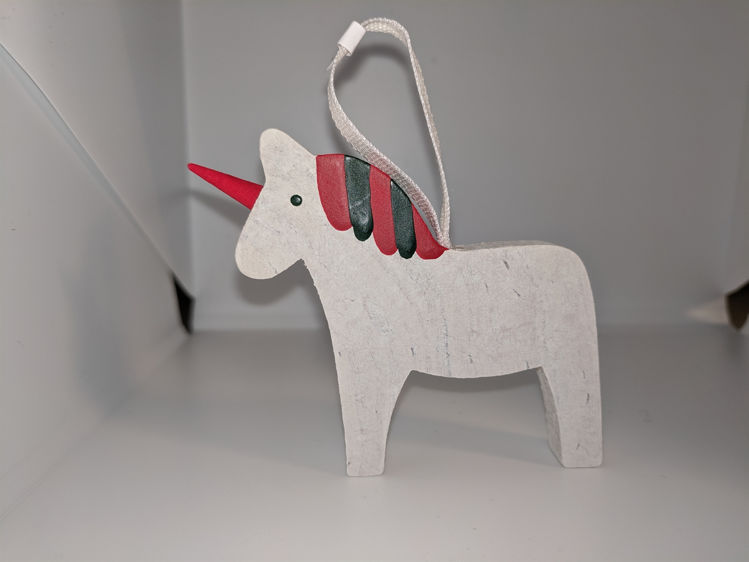 Picture of Unicorn Dala Horse Ornament