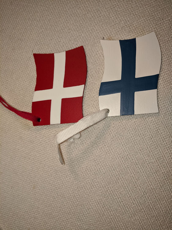 Picture of Wooden Flag Ornaments