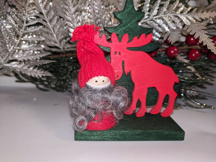 Picture of Wooden Tree w/assorted Animal & Tomte