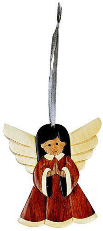 Picture of Angel Intarsia Wood Ornament