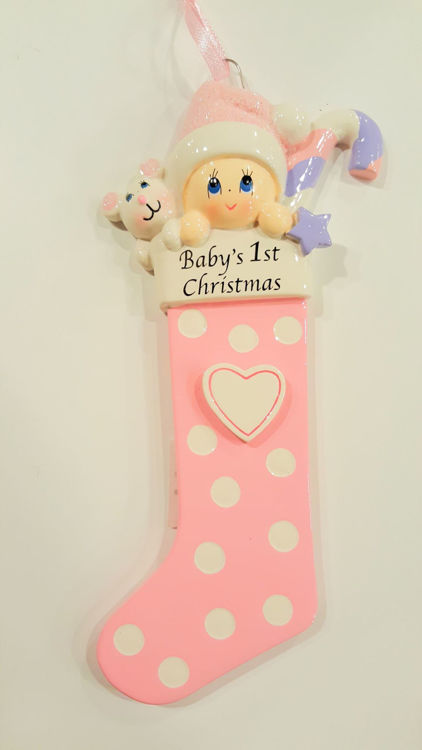 Picture of Baby in Stocking (Pink)