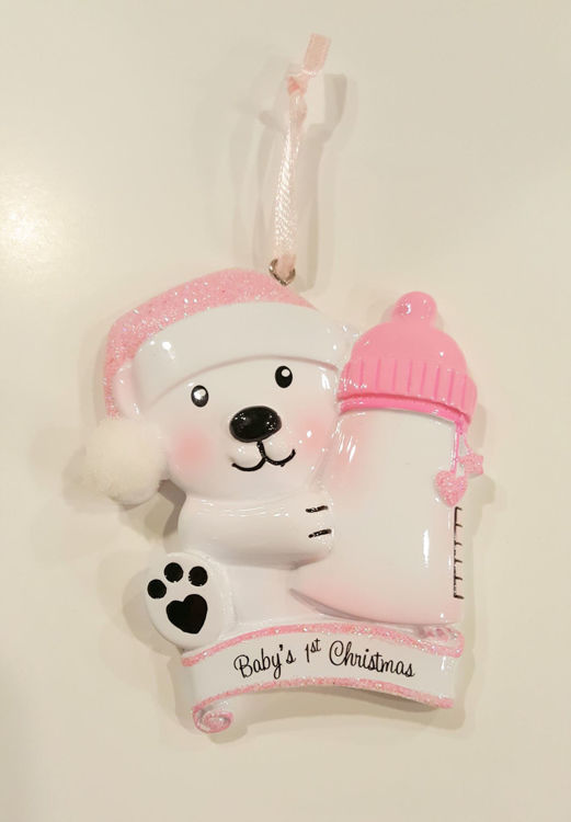 Picture of Bear with Bottle (pink)