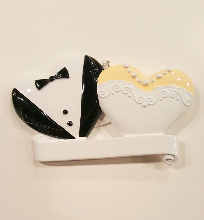 Picture of Bride and Groom Heart Bust