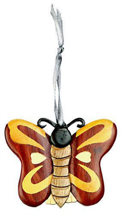 Picture of Butterfly Intarsia Wood Ornament