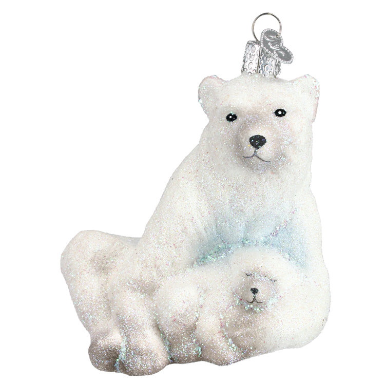 Picture of Glistening Polar Bear w Cub