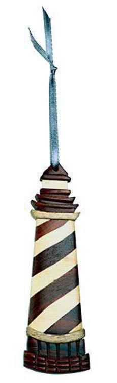 Picture of Lighthouse Intarsia Wood Ornament