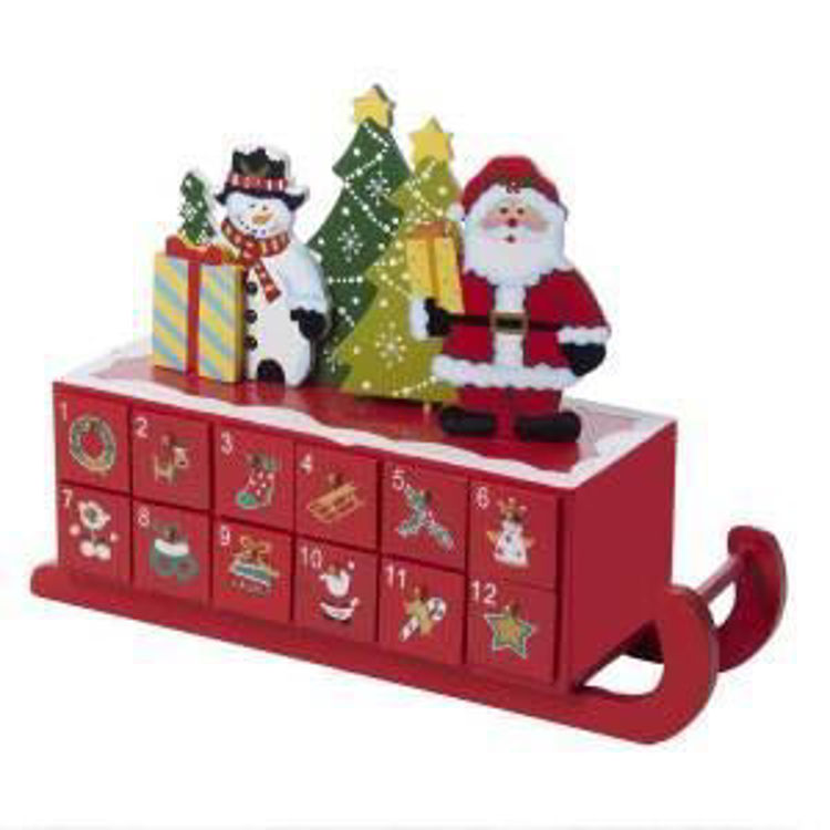 Picture of Red Wooden Sleigh