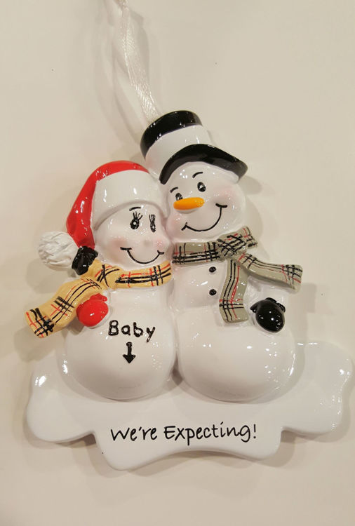 Picture of Snowmen Expecting Announcement
