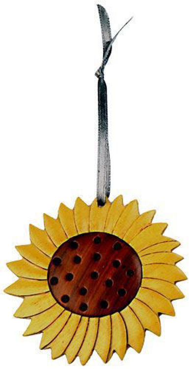 Picture of Sunflower Intarsia Wood Ornament