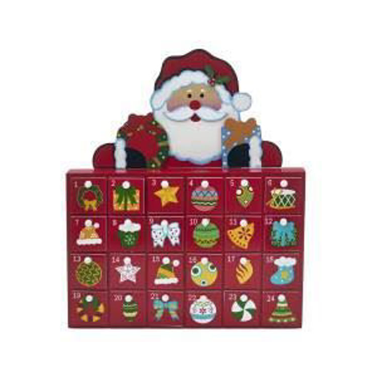 Picture of Wooden Red Santa