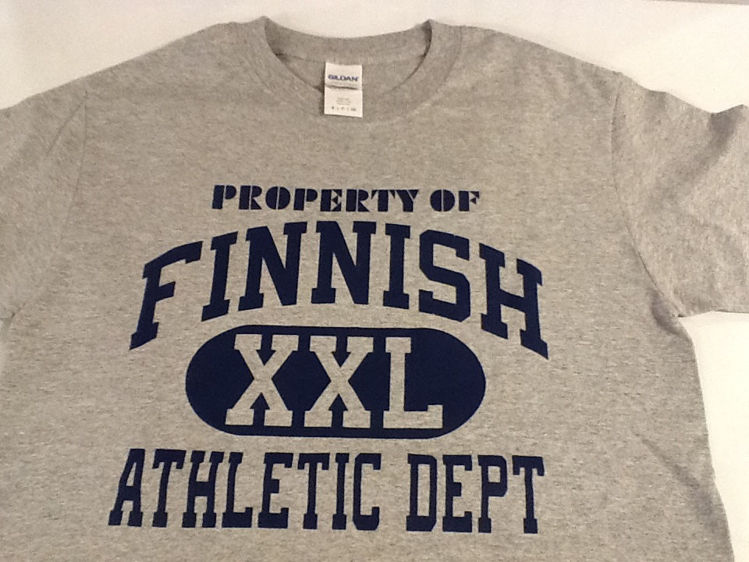 "Picture of ""Property of Finnish Athletic Dept."" T-Shirt"