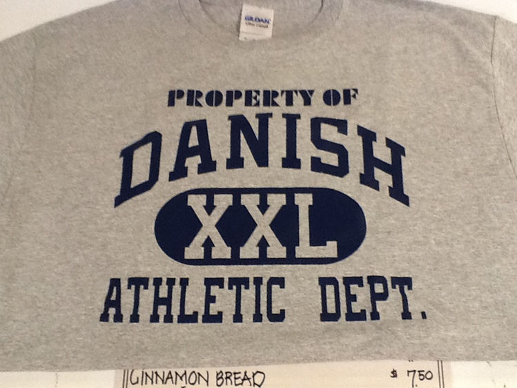 """Picture of """"Property of Danish Athletic Dept."""" T-Shirt"""