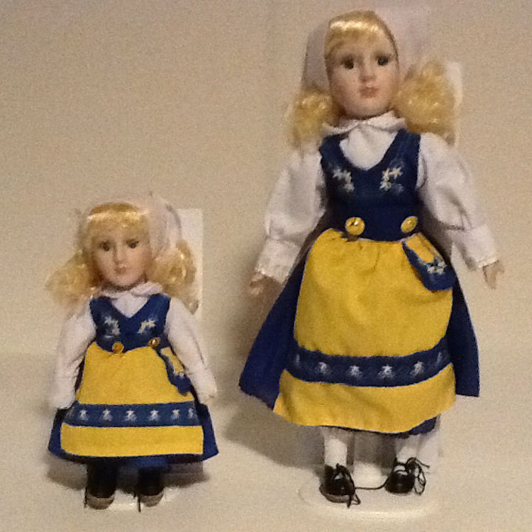 Picture of Porcelain Swedish Doll with Stand