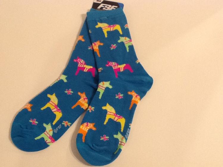 Picture of Dala Horse Socks, Women's size 6-11.