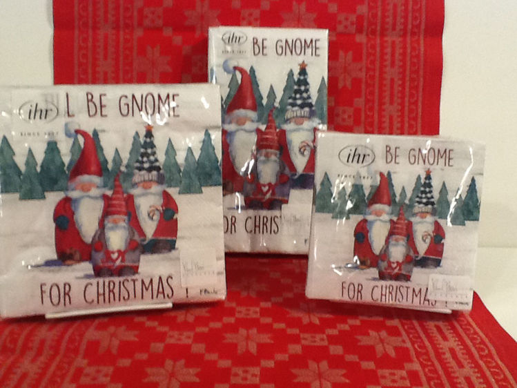 Picture of Paper Napkins, Be Gnome for Christmas