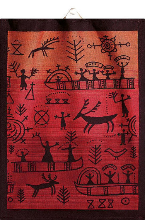 Picture of Ekelund Linens, Osterled, Red