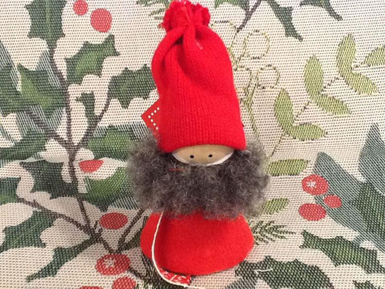 Picture of Wooden Tomte w/Beard & Hat