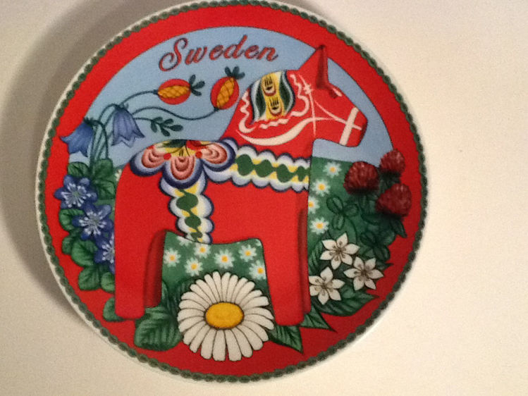 """Picture of Dala Horse Plate, 9.5"""""""